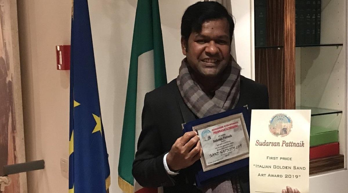 Sudarsan Pattnaik Becomes First Indian to Win Italian Golden Sand Art Award 2019 (View Pic)