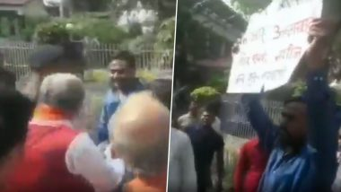 Bihar: Ashwini Choubey, Union Minister and BJP Leader, Gets Into Heated Argument With Protesting Locals in Buxar; Watch Video