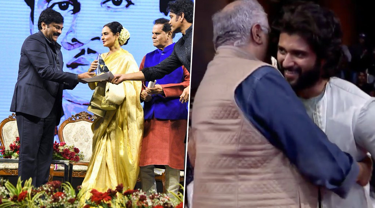 ANR Awards 2019: Rekha and Late Actress Sridevi Get Honoured in the Ceremony Attended by Boney Kapoor, Vijay Deverakonda and Others (View Pics)