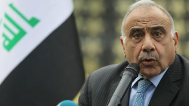 Iraq PM Adel Abdel Mahdi Says Received Signed US 'Withdrawal' Letter Monday