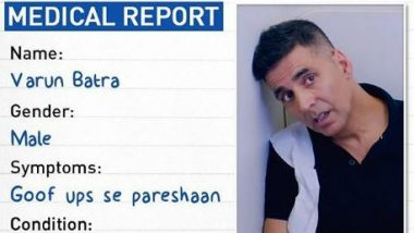 Good Newwz: Akshay Kumar Shares a Funny Medical Report!