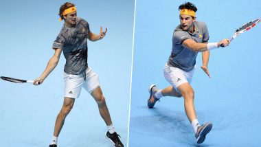 Dominic Thiem vs Alexander Zverev, ATP Finals 2019 Live Streaming & Match Time in IST: Get Telecast & Free Online Stream Details of Semi-Final Match in India