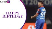 Amit Mishra Birthday Special: Quick Facts to Know About Team India and Delhi Capitals Leg-Spinner
