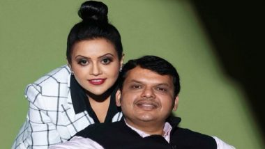 Devendra Fadnavis' Wife Amruta Fadnavis Wishes Husband on Their 14th Marriage Anniversary