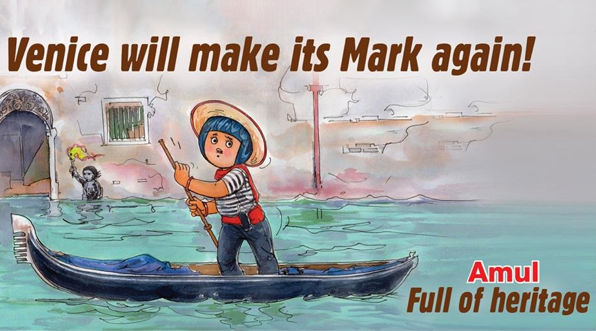 Amul Dedicates Topical Doodle to Flood-Hit Venice, Conveys Hope to Italy's Heritage City