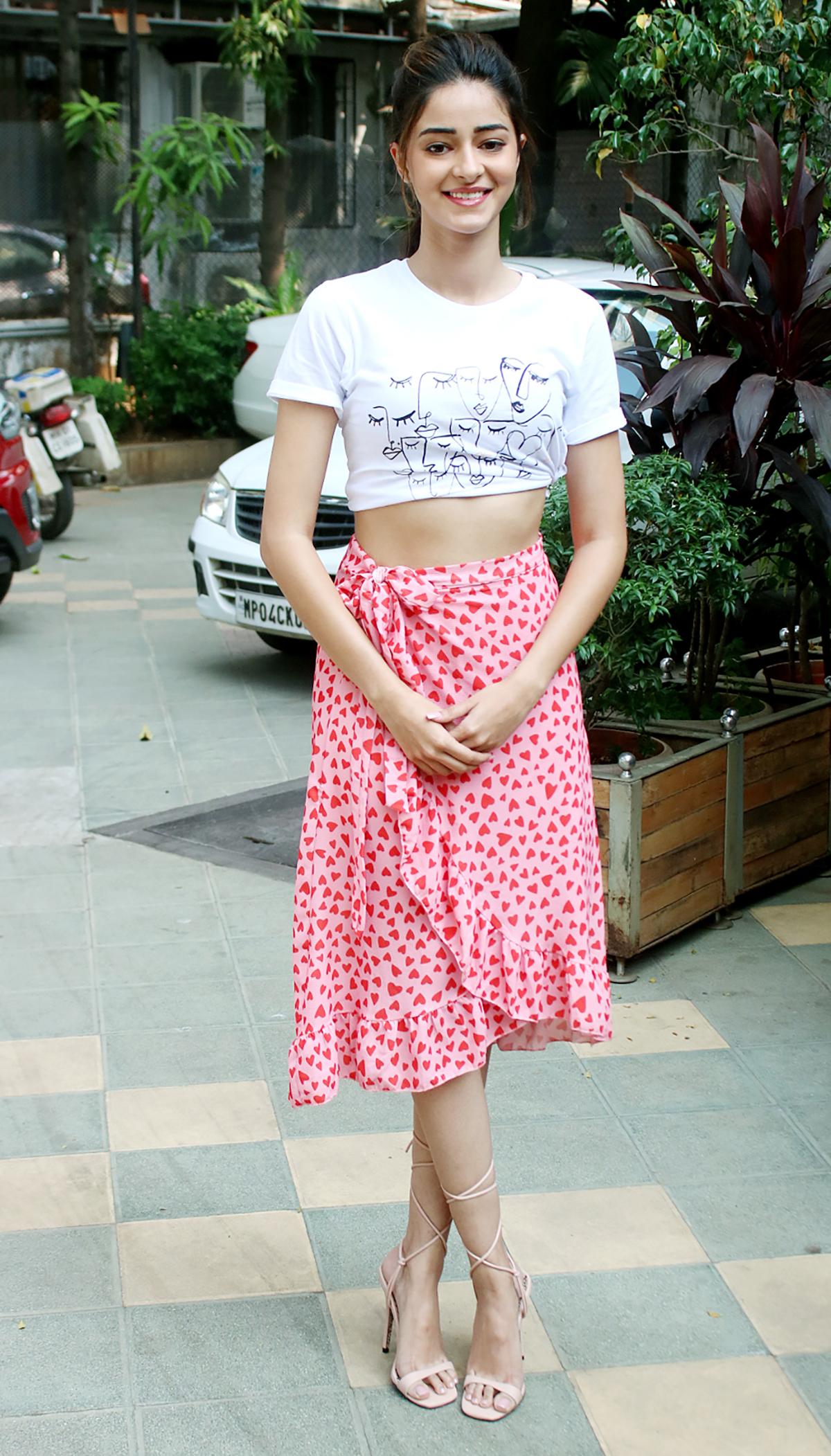 Ananya Panday for Pati, Patni Aur Woh promotions (5)