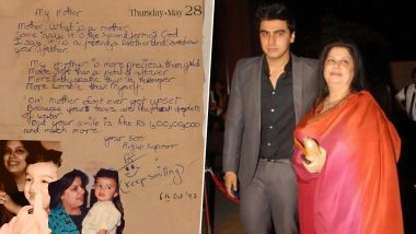 Arjun Kapoor's Throwback Picture of a Handwritten Poem For His Late Mother Will Get You Teary-Eyed (View Tweets)