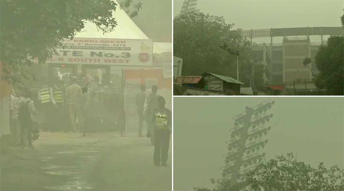 Pollution Visuals of Arun Jaitley Stadium Go Viral Ahead of India vs Bangladesh 1st T20I in Delhi, Netizens Urge Authorities to Cancel Match Due to Poor Air Quality