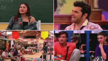Bigg Boss 13 Day 55 Preview: Shehnaaz Gill Turns Into A HOT English Teacher, Asim Riaz and Himanshi Khurana Get Flirty (Watch Video)