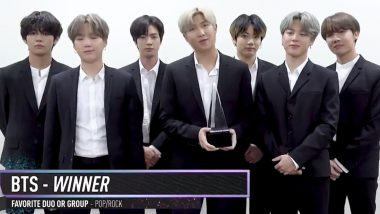 BTS Wins 3 Awards at American Music Awards 2019, Beat Top Contenders Like Jonas Brothers, Ed Sheeran, Ariana Grande and Billie Eilish