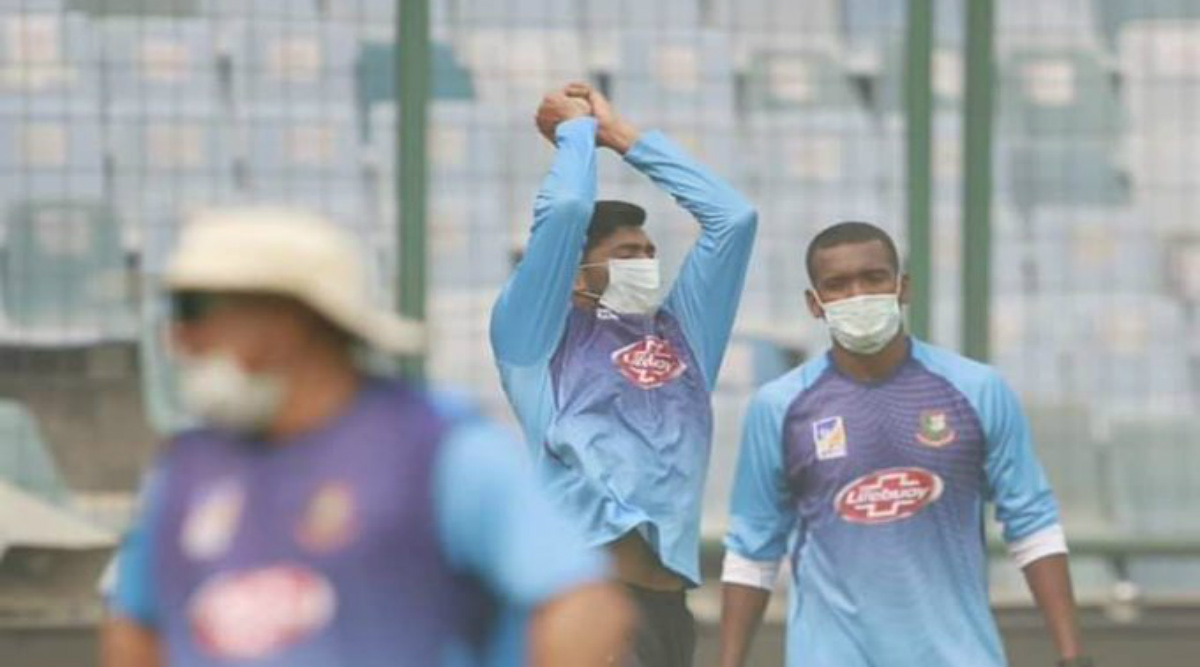 IND vs BAN 2019: Bangladesh Cricketers Use Masks During Practice Sessions Ahead of 1st T20I Match Against India