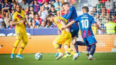 La Liga 2019-20: Barcelona Slip to Shock Defeat After Levante Goal Flurry