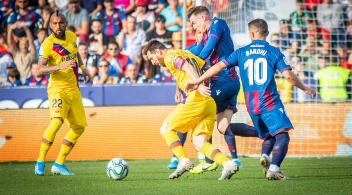 La Liga 2019-20: Barcelona Slip to Shock Defeat After Levante Goal Flurry