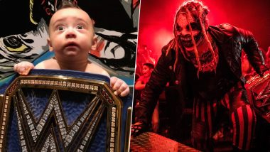 'The Fiend' Bray Wyatt Shares Cute Pic of Son Knash With New WWE Universal Championship Belt, Says He Likes the Blue Title!