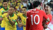 Brazil vs South Korea Head-to-Head Record: Ahead of International Friendly 2019, Here Are Match Results of BRA vs KOR Last 5 Encounters