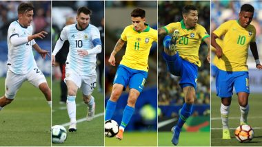 BRA vs ARG, International Friendly 2019 Match: From Lionel Messi to Philippe Coutinho, 5 Players to Watch Out for in Brazil vs Argentina Football Game