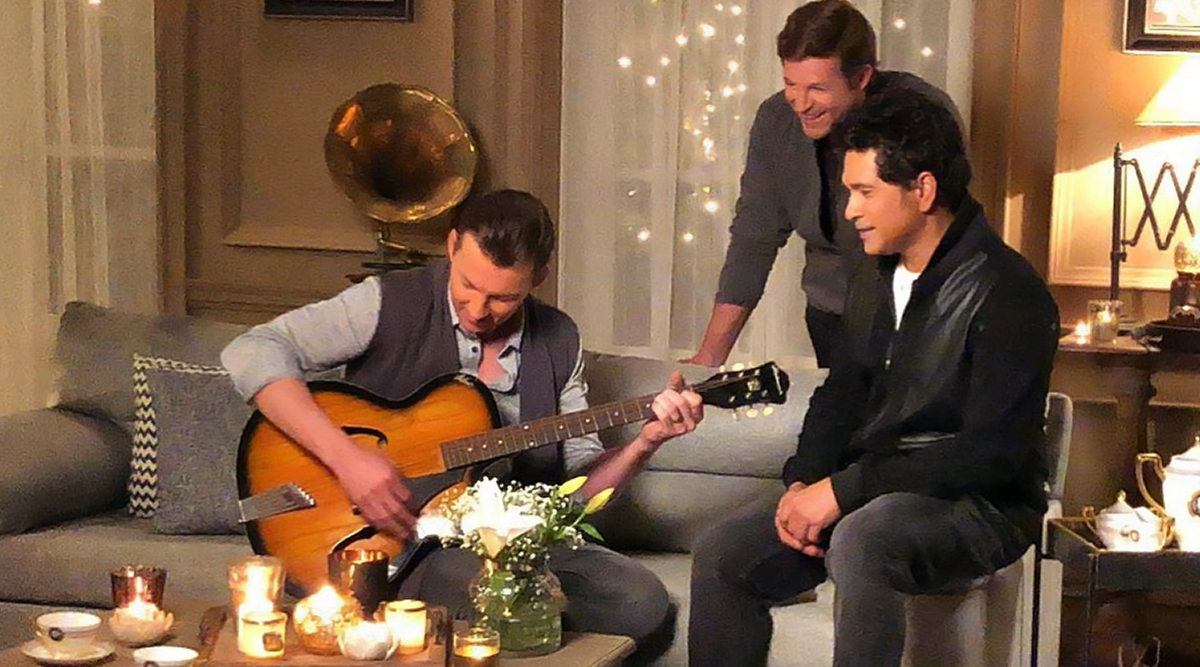 Sachin Tendulkar Wishes Brett Lee on His 43rd Birthday, Shares a Throwback Photo of Former Australian Pacer Playing a Guitar