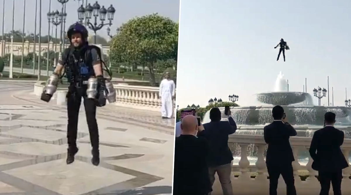 Humans to Fly Like Birds? British Inventor Richard Browning Amuses People by Flying a Jet Suit in Saudi Arabia (Watch Video)