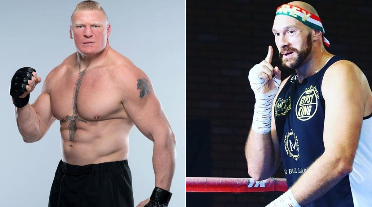 Brock Lesnar Challenged By Tyson Fury For a Match at WWE WrestleMania 36, The Gypsy King Said on 'After the Bell' Podcast That He Wants to Fight The Beast Incarnate