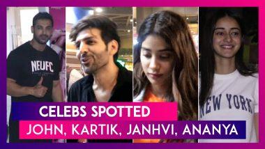 John Abraham, Kartik Aaryan, Janhvi Kapoor & Others Seen In The City | Celebs Spotted
