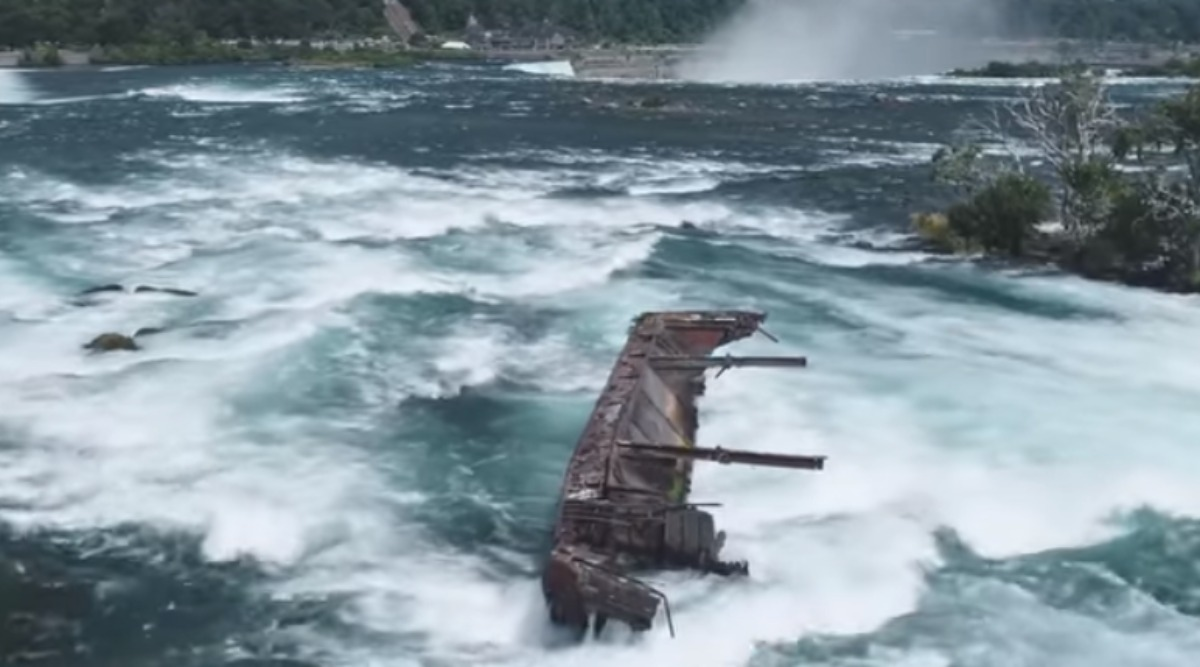 Century-Old Boat Stuck Above Niagara Waterfalls Dislodged by Storms On Halloween (Watch Video)