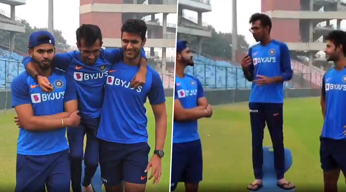 Yuzvendra Chahal Interviews Shreyas Iyer and Shivam Dube on Chahal TV Ahead of IND vs BAN 1st T20I, Speaks to Latter About His T20I Debut (Watch Video)