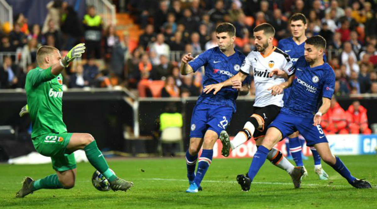 UEFA Champions League 2019-20: Chelsea Made to Wait For Last 16 Spot After Thrilling 2-2 Draw in Valencia