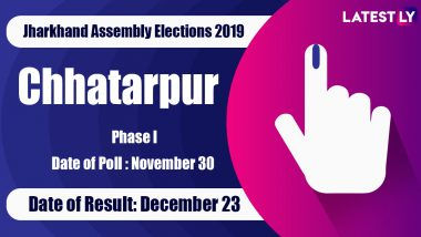 Chhatarpur (SC) Vidhan Sabha Constituency in Jharkhand: Sitting MLA, Candidates For Assembly Elections 2019, Results And Winners