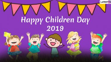 Children's Day Images & HD Wallpapers For Free Download Online: Wish Happy Bal Diwas 2019 With WhatsApp Stickers and Hike GIF Greetings
