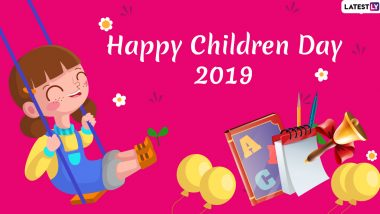 Happy Children's Day 2019 Greetings: WhatsApp Stickers, GIF Image Messages, SMS, Bal Diwas Wishes and Quotes to Share on Pandit Jawaharlal Nehru's Birth Anniversary