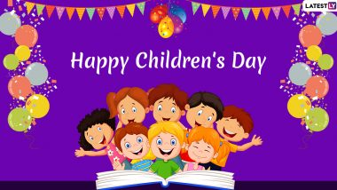 Children's Day 2019 Wishes in English and Hindi: WhatsApp Stickers, Images, GIF Greetings, Quotes, SMS and Photos to Celebrate Bal Diwas