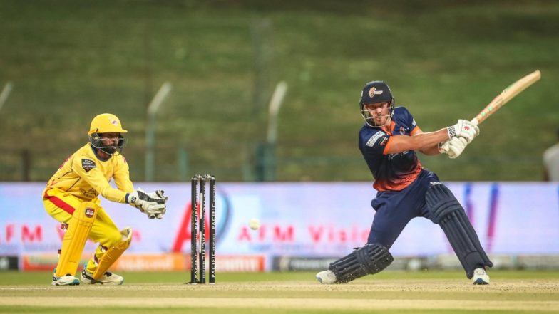 Highest Score in T10 League: Chris Lynn Smashes 91 Runs Off 30 to Make Highest Individual Score Record As Maratha Arabians Defeat Team Abu Dhabi by 24 Runs