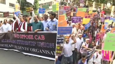 Citizenship Amendment Bill 2019: ULFA Faction, Assam Farmers' Body Protest in Guwahati Against Proposed Law to Naturalise Refugees