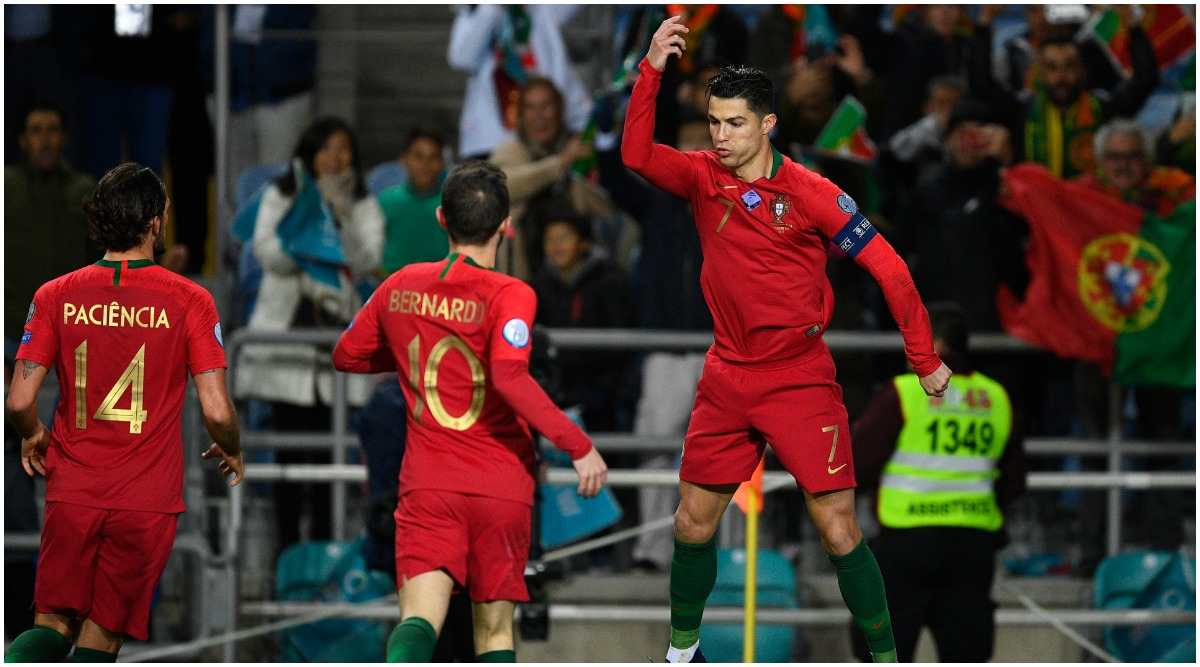 Cristiano Ronaldo Hat-Trick Helps Portugal Demolish Lithuania 6–0 in Euro 2020 Qualifiers, Juventus Star Closes on Goal Century