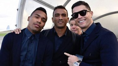 Cristiano Ronaldo Shares a Cool Photo With Juventus Teammates Alex Sandro, Wojciech Szczesny and Danilo Ahead of Champions League 2019–20 Clash (See Instagram Post)
