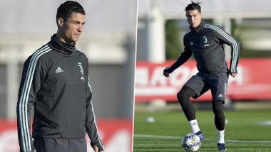 Cristiano Ronaldo in a Positive Frame of Mind After Ballon d'Or 2019 Snub, Sweats it Out Ahead of Lazio vs Juventus, Serie A 2019-20 Clash (See Pics)
