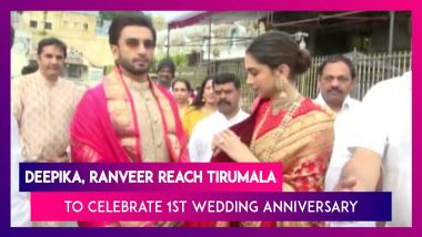 Bollywood's Favorite Deepveer Celebrate Their 1st Anniversary With The Blessings Of Tirupati Balaji