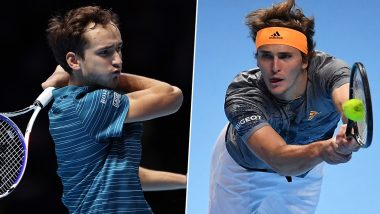 Daniil Medvedev vs Alexander Zverev, ATP Finals 2019 Live Streaming & Match Time in IST: Get Telecast & Free Online Stream Details of Group Stage Match in India
