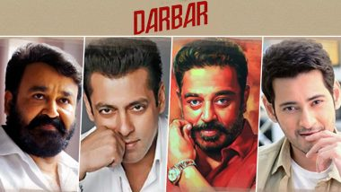 Darbar: Superstars Mohanlal, Salman Khan, Kamal Haasan and Mahesh Babu to Launch Motion Poster of Rajinikanth's Film