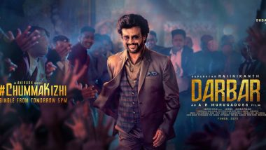 Darbar: Rajinikanth Makes a Swagger Appearance On The New Poster Ahead of Chumma Kizhi Song Release (View Pic)