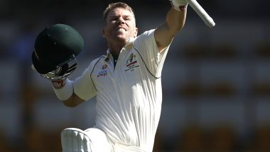David Warner Registers His 22nd Century During Australia vs Pakistan 1st Test 2019, Twitterati Hail Southpaw's Sensational Comeback After a Horrific Ashes Series