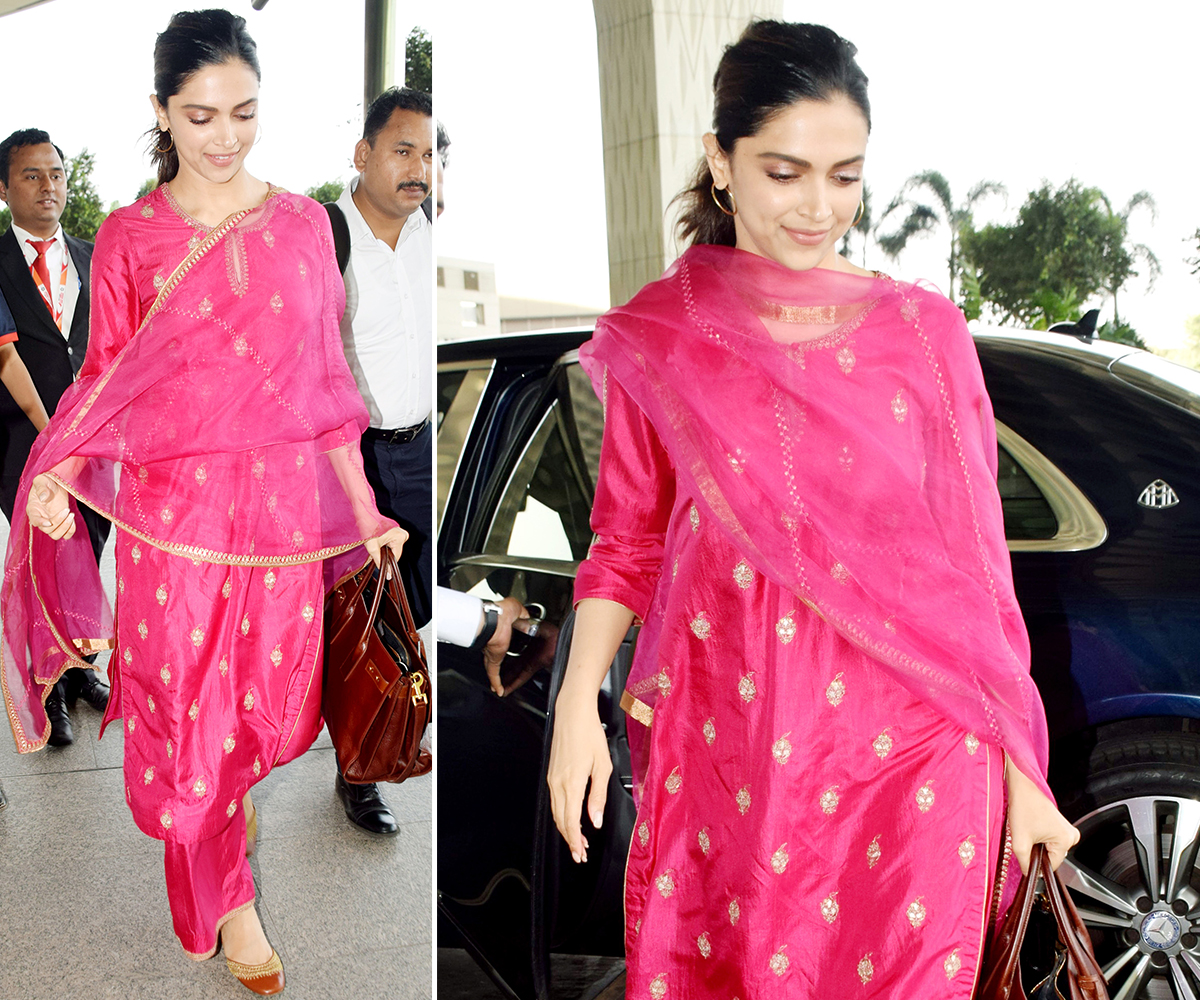 Deepika Padukone in Lajjoo C at the airport (2)