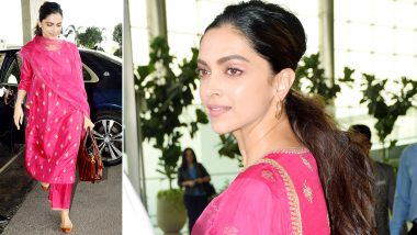 Airport Style: Deepika Padukone Spins a Fabulous Fuchsia Fantasy and All We Can Say Is WOW!