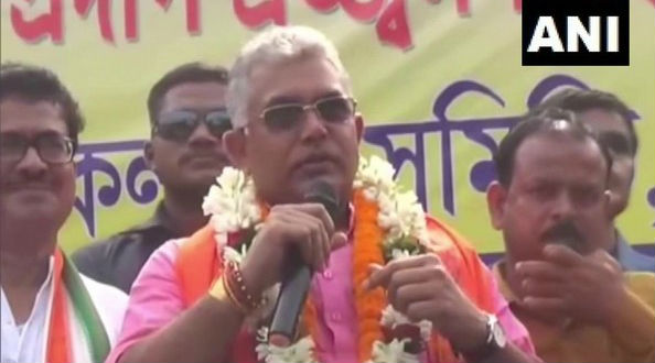Dilip Ghosh, West Bengal BJP Chief,  Sparks Controversy For Asking Beef Eaters to 'Consume Dog Meat at Home' (Watch Video)