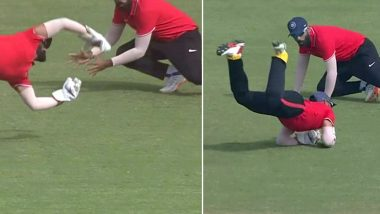 Dinesh Karthik Leaves Fans in Awe With Stunning One-Handed Catch in 2019–20 Deodhar Trophy Final (Watch Video)