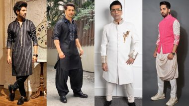 Eid-e-Milad 2019: Ayushmann Khurrana, Karan Johar, Kartik Aaryan Find The Best Ethnic Styles For Men To Ape!