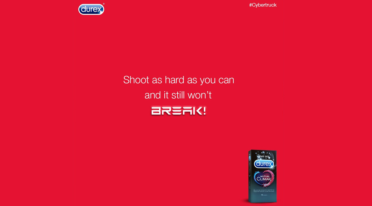 Durex Takes a Dig at Cybertruck Window Smashing Incident, Says Condoms Won't Break Even If You Shoot HARD!