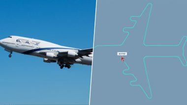 EI Boeing 747 Marks Retirement By Last Flight LY1747 Painting an Aircraft in The Sky (See Pictures)