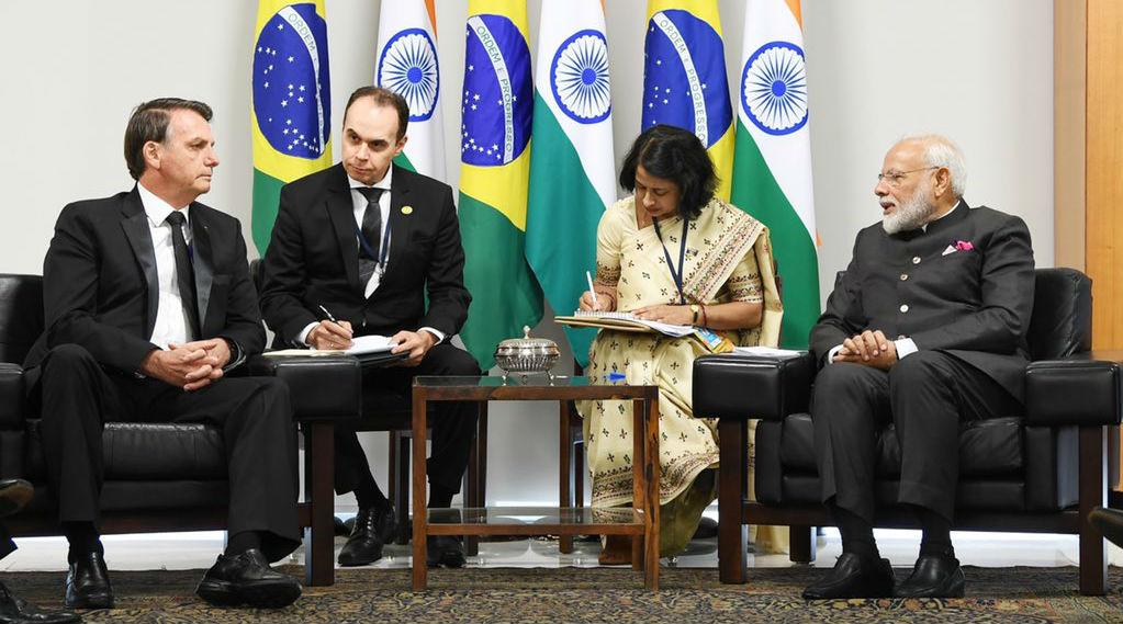 BRICS Summit 2019: PM Narendra Modi Meets Jair Bolsonaro, Holds 'Fruitful' Talks with Brazilian President