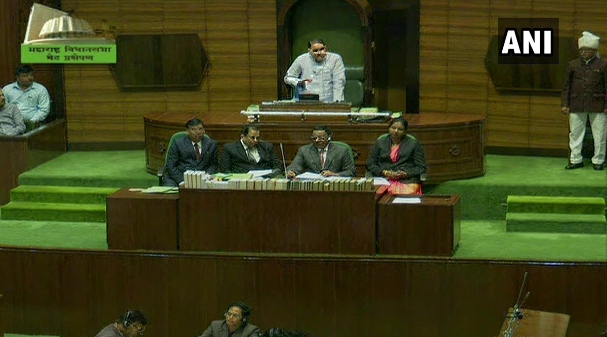 Maharashtra Assembly Floor Test: Stormy Scenes Witnessed in House Ahead of Trust Vote